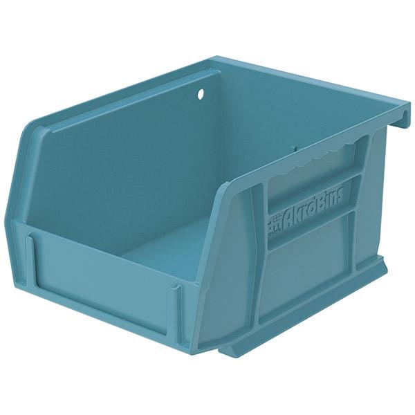 """Akro-Mils® AkroBins® Standard Storage Bin, 5 3/8""""L x 3""""H x 4 1/8""""W, Light Blue"""