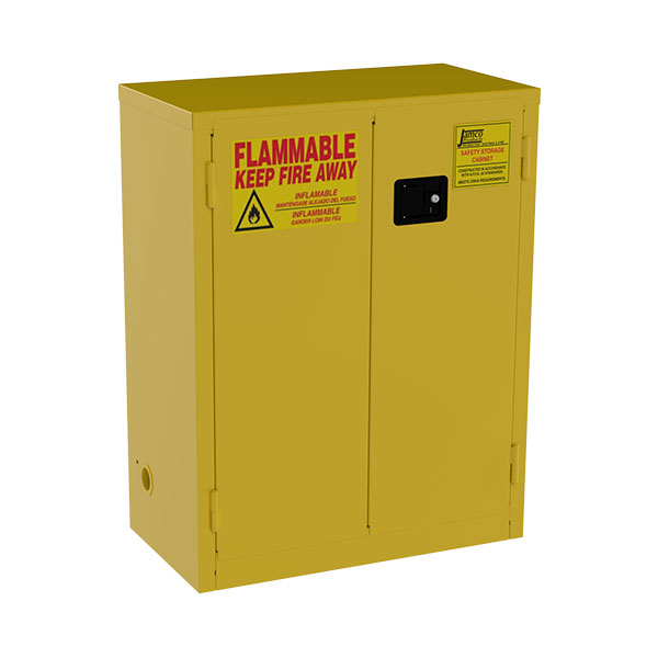 """Jamco Safety Cabinet, Standard, 28 gal, Manual  Doors, 44""""H x 34""""W x 18""""D"""