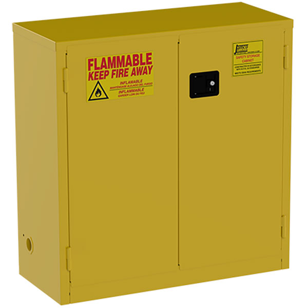 """Jamco Safety Cabinet, Standard, 30 gal, Manual Doors, 44""""H x 43""""W x 18""""D"""