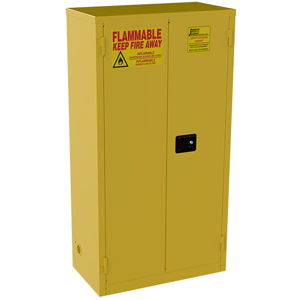 """Jamco Safety Cabinet, Standard, 44 gal, Manual Doors, 65""""H x 34""""W x 18""""D"""