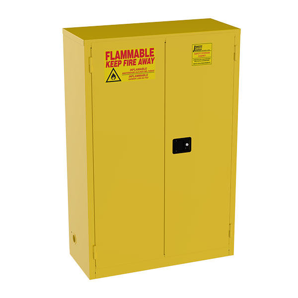 """Jamco Safety Cabinet, Standard, 45 gal, Manual Doors, 65""""H x 43""""W x 18""""D"""