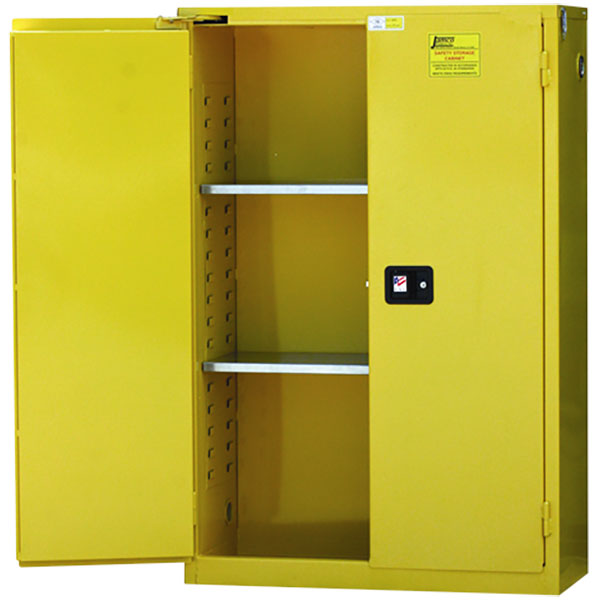 """Jamco Safety Cabinet, Standard, 45 gal, Self-Closing Doors, 65""""H x 43""""W x 18""""D"""