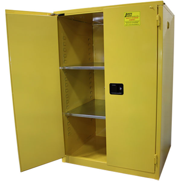 """Jamco Safety Cabinet, Standard, 90 gal, Self-Closing Doors, 65""""H x 43""""W x 34""""D"""