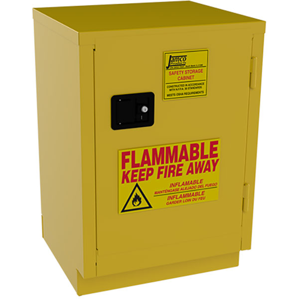 """Jamco Safety Cabinet, Under Counter, 12 gal, Manual Doors, 35""""H x 24""""W x 22""""D"""