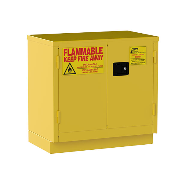 """Jamco Safety Cabinet, Under Counter, 22 gal, Manual Doors, 35""""H x 36""""W x 22""""D"""