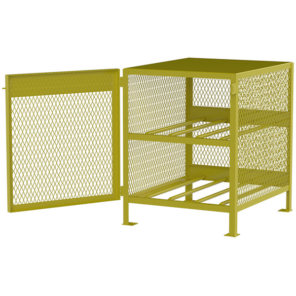 Jamco Horizontal Storage Cylinder Cabinet, Gas, 4 Cylinders, 40H x 33W x 40D