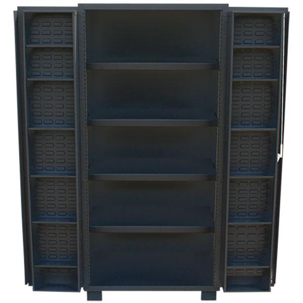 """Jamco Bin & Shelf Cabinet, 4"""" Deep Doors, 78""""H x 36""""W x 24""""D"""