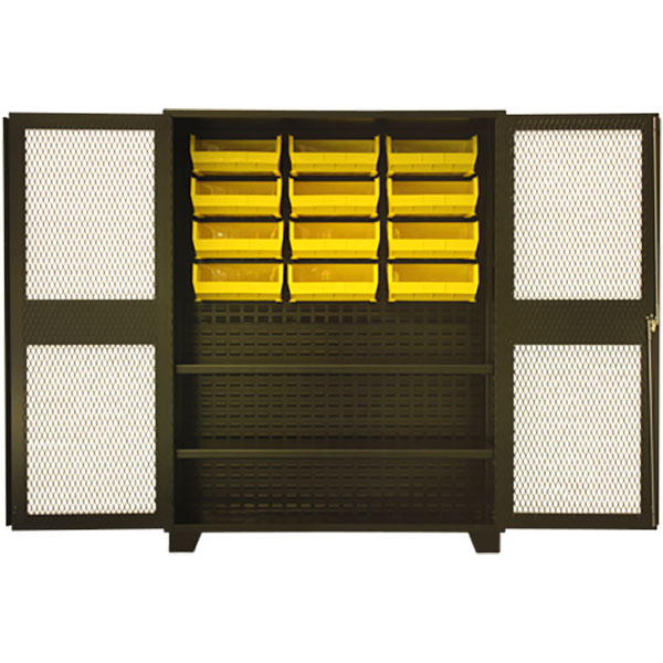 "Jamco Welded Steel Cabinet, Clear Doors, 78""H x 60""W x 24""D"