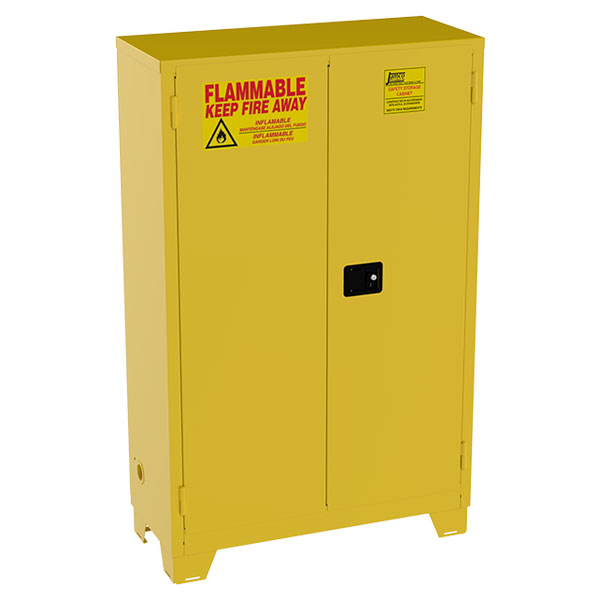 """Jamco High-Rise Safety Cabinet, 45 gal, Manual  Doors, 70""""H x 43""""W x 18""""D"""