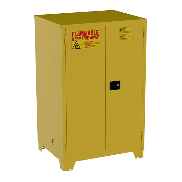 """Jamco High-Rise Safety Cabinet, 90 gal, Manual  Doors, 70""""H x 43""""W x 34""""D"""