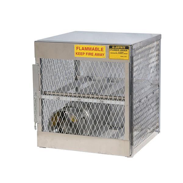 "Justrite® Pressurized Gas Cylinder Locker, Horizontal, 33 1/2""H x 30""W x 32""D"
