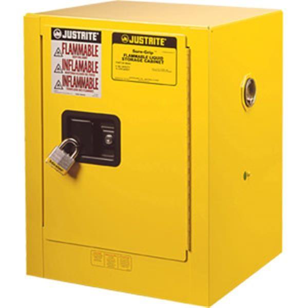 "Justrite® Sure-Grip® EX Countertop Cabinet, 4 gal, 22""H x 17""W x 17""D"
