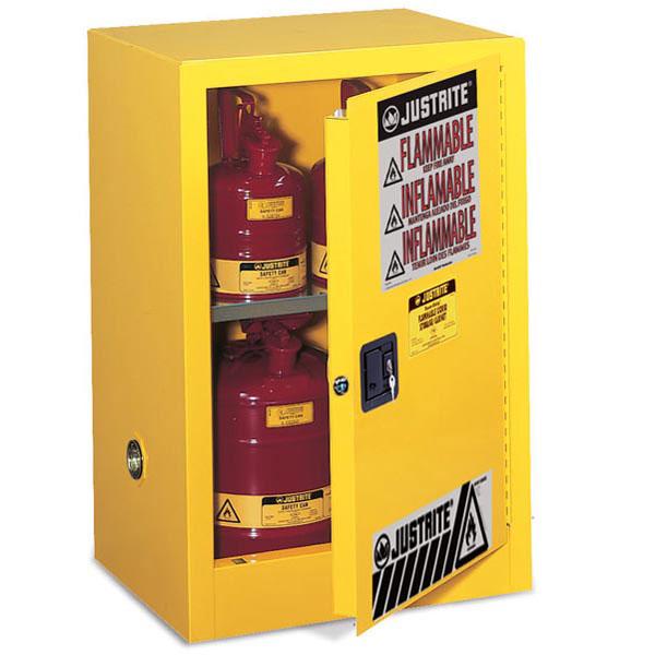 """Justrite® Sure-Grip® EX Compac Cabinet, 12 gal, 35""""H x 23 1/4""""W x 18""""D, FM Approved"""