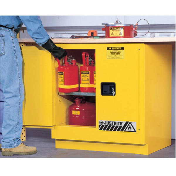 Justrite® Sure-Grip® EX Undercounter Safety Cabinet, Manual Doors