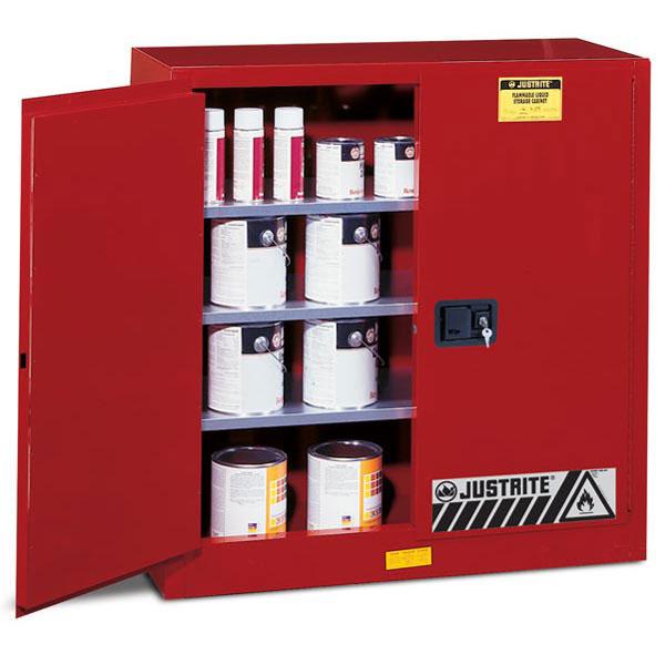 Justrite® Sure-Grip® EX Class III Paint Storage Cabinet, 40 gal, Manual Doors