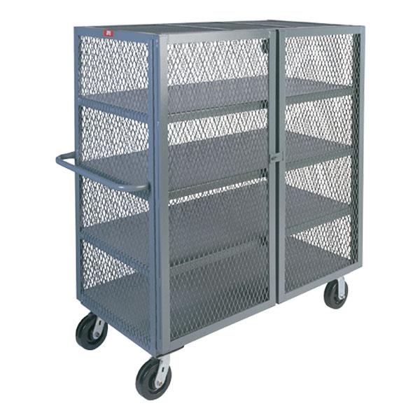 "Jamco Mesh Security Truck, 4 Shelves, 57""H x 48""W x 24""D"