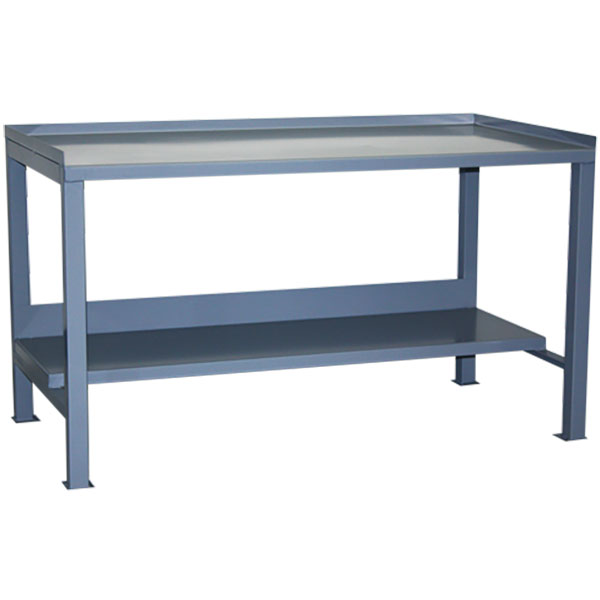 """Jamco Heavy-Duty Fixed Workbench, Flush Front Top, 34""""H x 60""""W x 30""""D"""