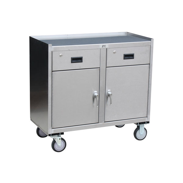 Jamco Stainless Steel Mobile Cabinet, 2 Drawers & 2 Doors