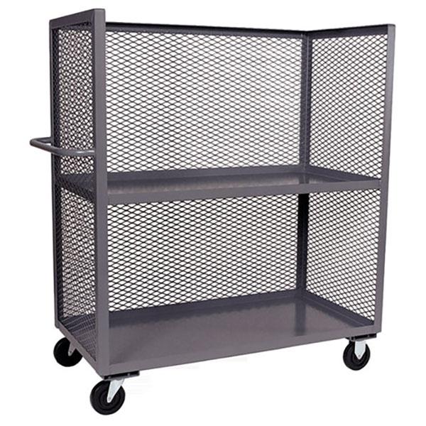 Jamco Mesh Truck, 3-Sided, 2 Shelves
