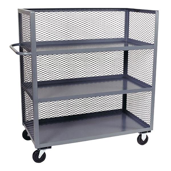Jamco Mesh Truck, 3-Sided, 3 Shelves
