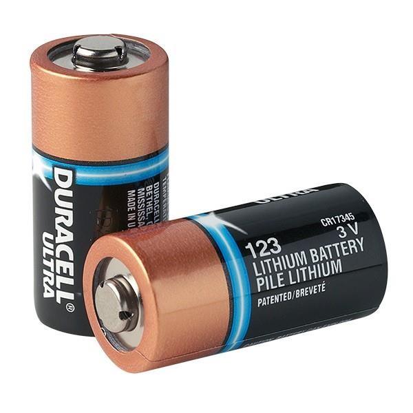 Duracell® Ultra CR123A Lithium Batteries