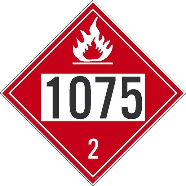 "NMCâ""¢ 1075 2 Dot Placard Sign"