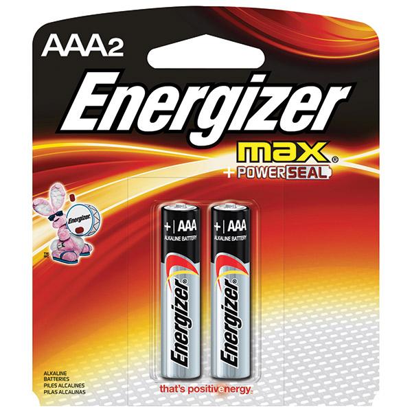 Energizer® Max® Alkaline AAA Batteries, 2/Pkg