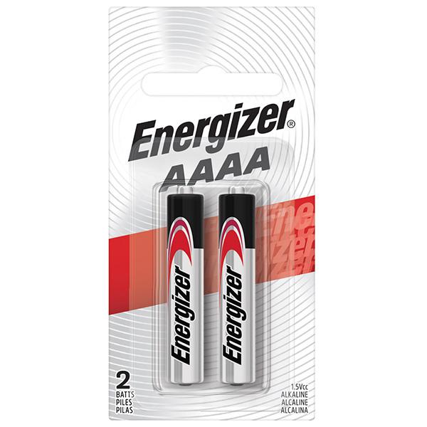Energizer® Max® Alkaline AAAA Batteries, 2/Pkg