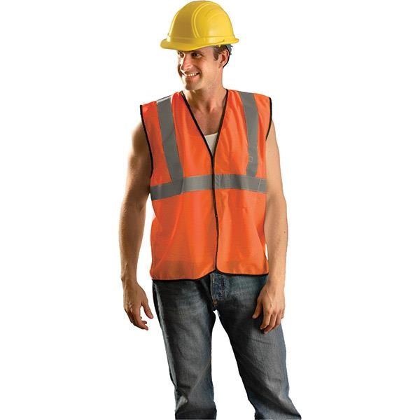 OccuNomix Class 2 Solid Mesh Standard Vest, Large/X-Large, Orange