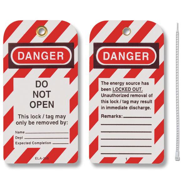 "Honeywell® Styrene Lockout Tags, ""Do Not Open"""