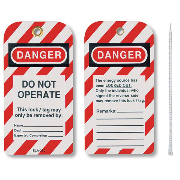 """Honeywell® Styrene Lockout Tags, """"Do Not Operate"""""""