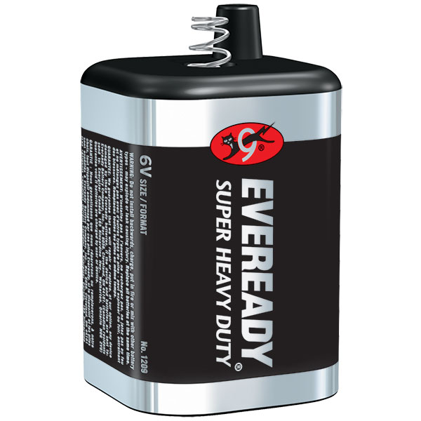 Eveready® Super Heavy Duty 6V Battery (Spring Terminal), 1/Pkg