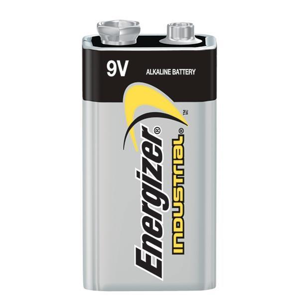 Energizer® Industrial® 9V Alkaline Batteries, 12/Pkg