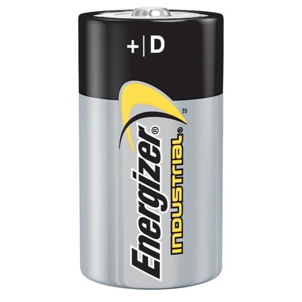 Energizer® Industrial® D Alkaline Batteries, 12/Pkg