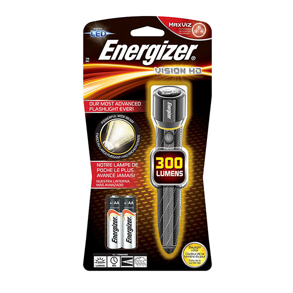 Energizer® Vision HD 2AA Performance Metal Light