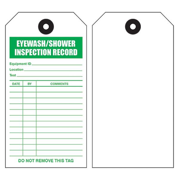 Emergency Shower/Eyewash Tags