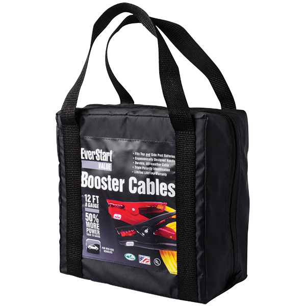 Medium Duty Booster Cable, 300 A, 12', Bag
