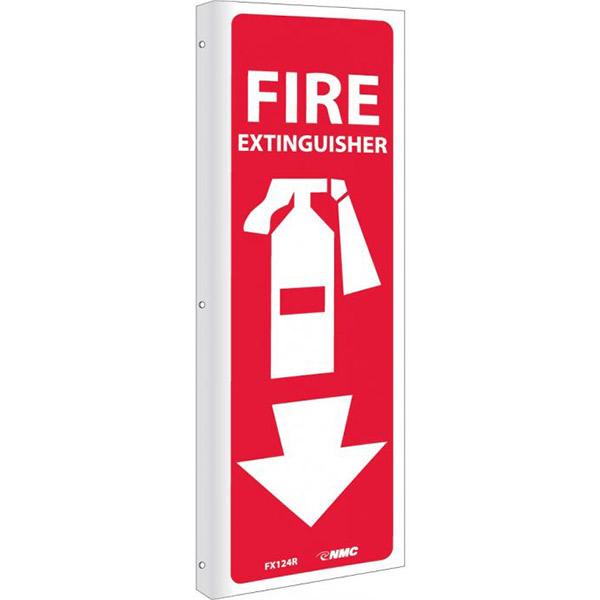 "NMCâ""¢ Fire Extinguisher Sign, Rigid Plastic, 12"" x 4"""