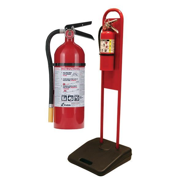 "5 lb ABC Pro Line Fire Extinguisher w/ Firetechâ""¢ Fire Extinguisher Stand"