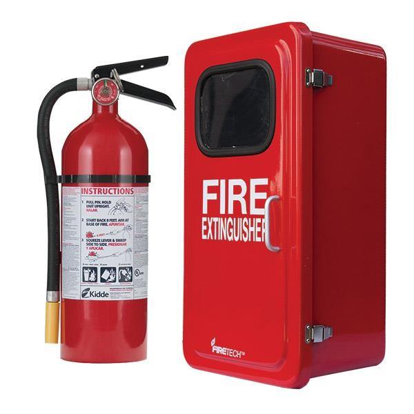 "5 lb ABC Pro Line Fire Extinguisher w/ Firetechâ""¢ Fiberglass Cabinet"