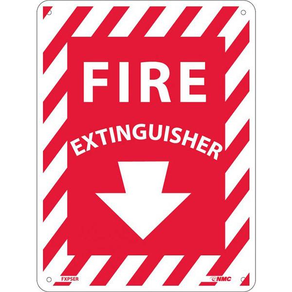 "NMCâ""¢ Fire Extinguisher Sign, Rigid Plastic, 12"" x 9"""