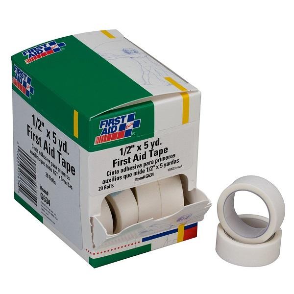 "First Aid Tape (Unitized Refill), 1/2"" x 5 yd, 20 Rolls/Box"