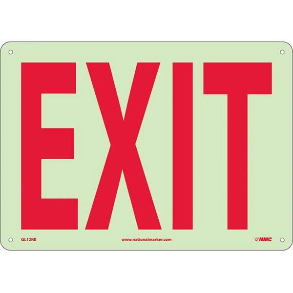 """NMCâ""""¢ Exit Sign, Rigid Plastic, 10"""" x 14"""""""