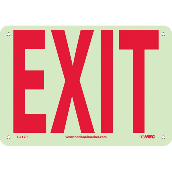 """NMCâ""""¢ Exit Sign, Rigid Plastic, 7"""" x 10"""""""