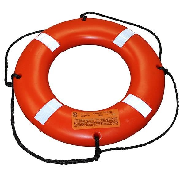 Stearns® Ring Buoy, Reflective, 24""