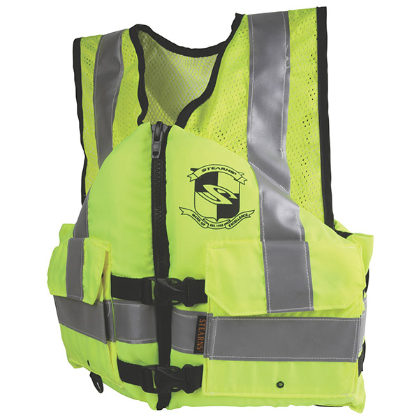 Stearns® Work Zone Gear™ Vest, ANSI, Large, Green