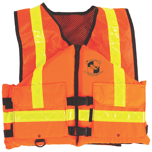 Stearns® Work Zone Gear™ Vest, Large, Orange