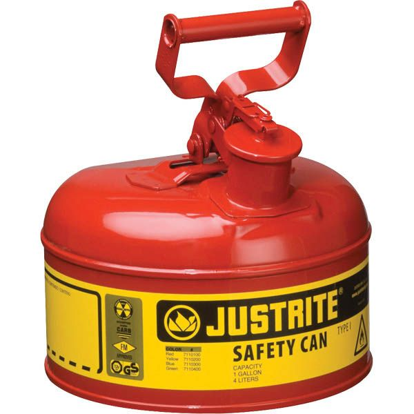 Justrite® Type I Safety Can, 1 gal, Red