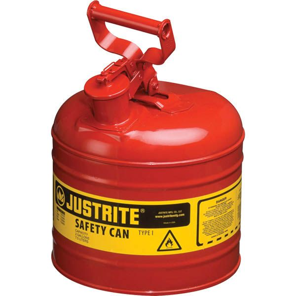 Justrite® Type I Safety Can, 2 gal, Red