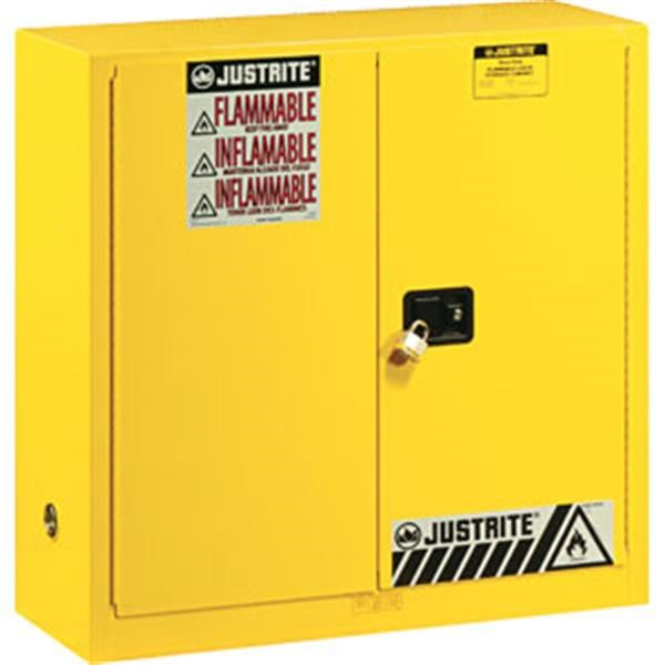 """Justrite® Sure-Grip® EX Safety Cabinets w/ Manual Doors, 30 gal, 44""""H x 43""""W x 18""""D, 1 Shelf"""